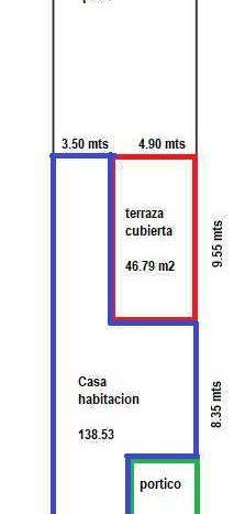 MEDIDAS DEL TERRENO: 8.40 X 40.00 SUPERFICIE DE TERRENO: 336 M2 SUPERFICIE DE CONSTRUCCIÓN: 138.53 M2